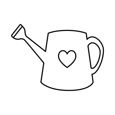 garden sprinkler with heart vector illustration design Иллюстрация