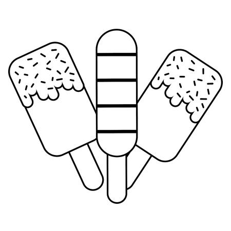 ice cream bar on white background vector illustration