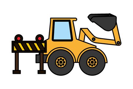 bulldozer barrier construction equipment design vector illustration vector illustration