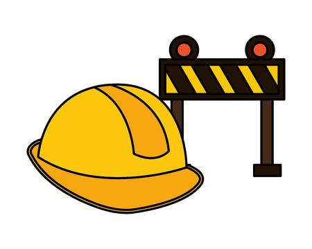 barrier helmet construction equipment design vector illustration vector illustration