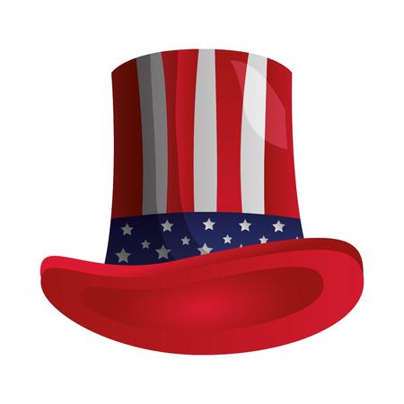 american flag hat happy presidents day vector illustration Reklamní fotografie - 126014649