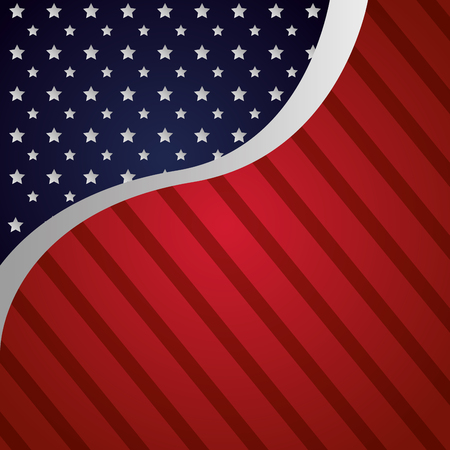 background american flag happy presidents day vector illustration