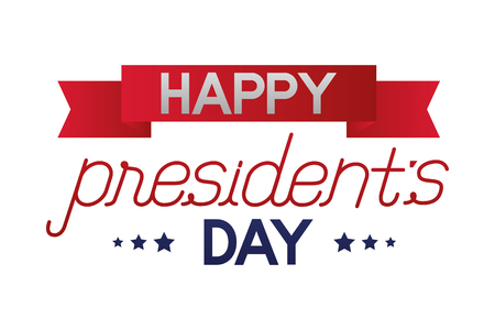 inscription celebration happy presidents day vector illustration