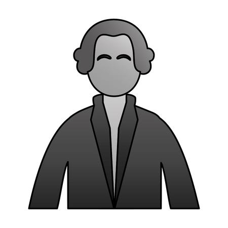 Ilustración de vector de día de los presidentes de carácter de George Washington Ilustración de vector