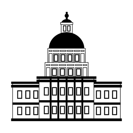 capitol building happy presidents day vector illustration