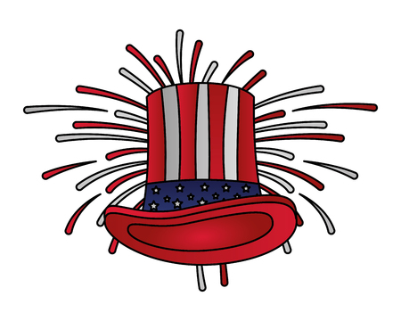 american flag hat happy presidents day vector illustration Reklamní fotografie - 126014681