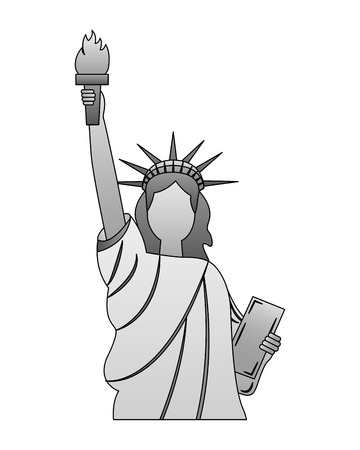 statue of liberty new york city landmark vector illustration Stock Vector - 126014683