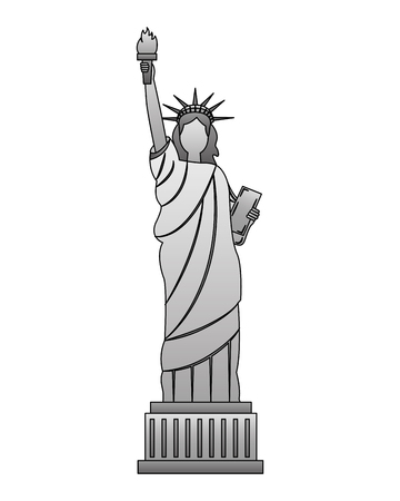 statue of liberty new york city landmark vector illustration Stock Vector - 126014684