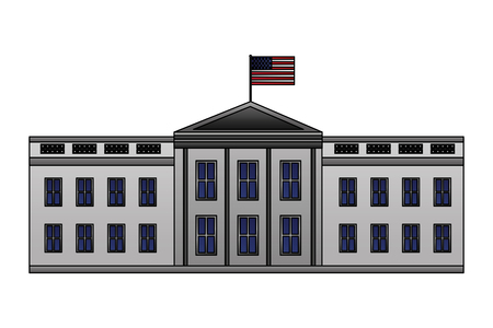 white house washington american flag happy presidents day vector illustration