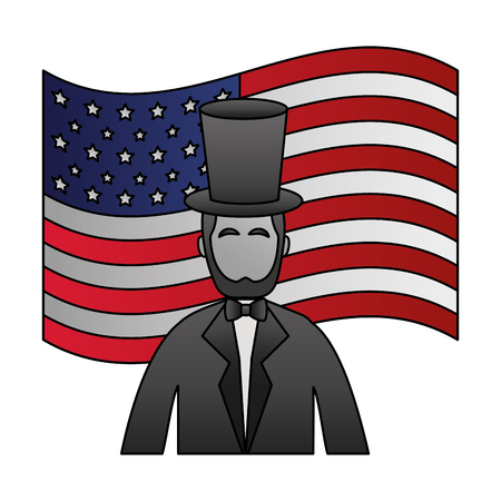 abraham lincoln amerikanischer präsidententag vektorillustration