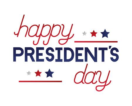 inscription celebration happy presidents day vector illustration Reklamní fotografie - 126014707