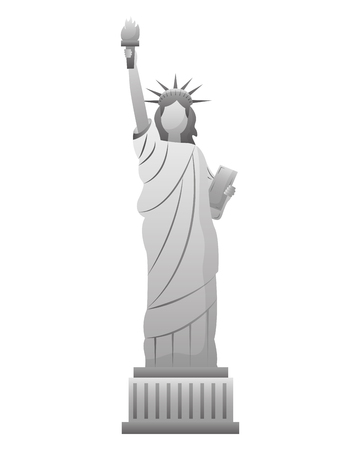 statue of liberty new york city landmark vector illustration