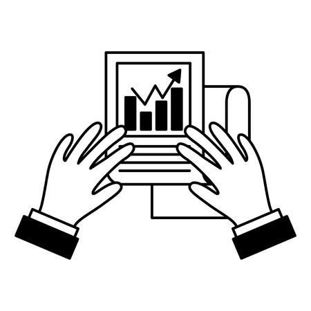 hands report business startup success vector illustration Illusztráció