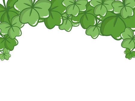 border clover decoration happy st patricks day vector illustration