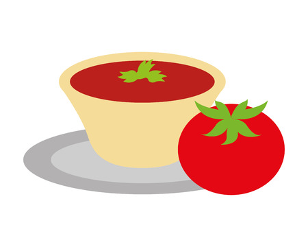 tomato sauce mexican food traditional vector illustration