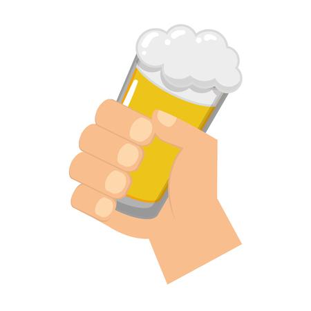 hand holding beer happy st patricks day vector illustration Illustration
