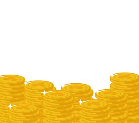 stack golden coins happy st patricks day vector illustration Illustration