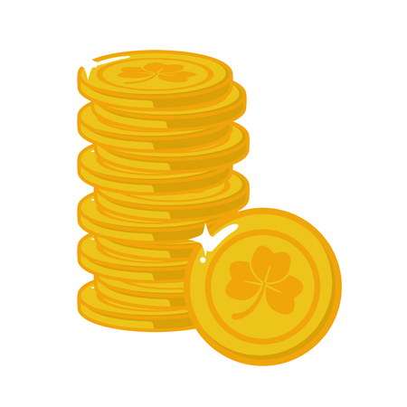 stack golden coins happy st patricks day vector illustration Reklamní fotografie - 126014840