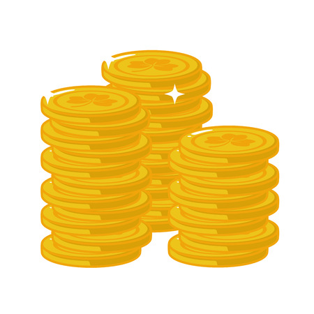 stack golden coins happy st patricks day vector illustration Illustration