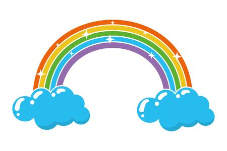 rainbow fantasy happy st patricks day vector illustration