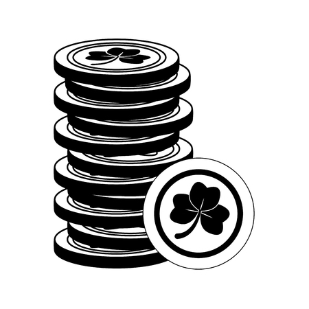 stack coins happy st patricks day vector illustration Reklamní fotografie - 126014898