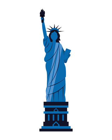 statue of liberty on white background vector illustration Illustration