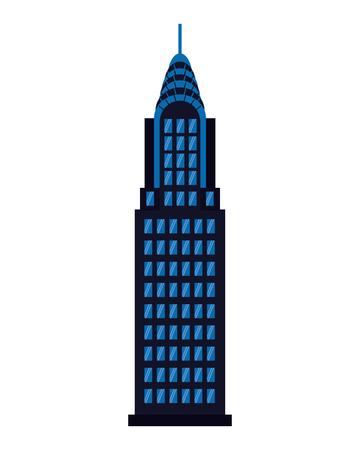 Arquitectura de fachada de edificio sobre fondo blanco ilustración vectorial