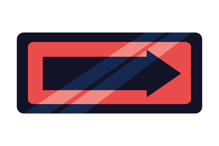 signal traffic arrow on white background vector illustration
