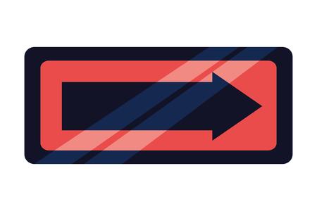 signal traffic arrow on white background vector illustration