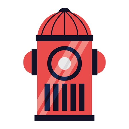 fire water hydrant on white background vector illustration