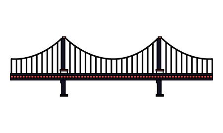 architektura mostu na białym tle ilustracji wektorowych Ilustracje wektorowe