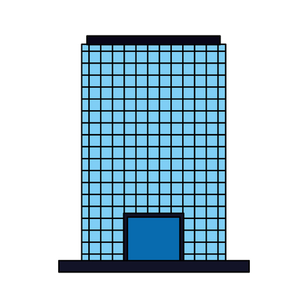 building facade architecture on white background vector illustration