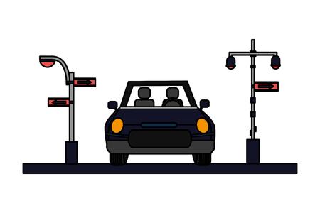 car traffic light arrows sign vector illustration Фото со стока - 126015008