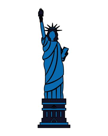 statue of liberty on white background vector illustration Illusztráció