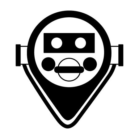 icono de visor binocular en la ilustración de vector de fondo blanco