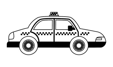 taxi car vehicle on white background vector illustration