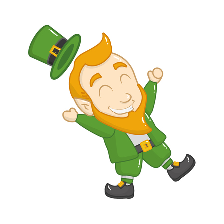 leprechaun happy st patricks day vector illustration Archivio Fotografico - 126017355