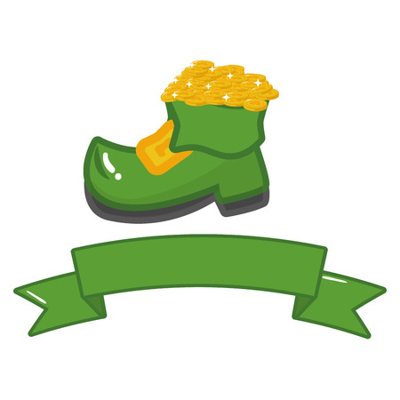 filled boot coins treasure happy st patricks day
