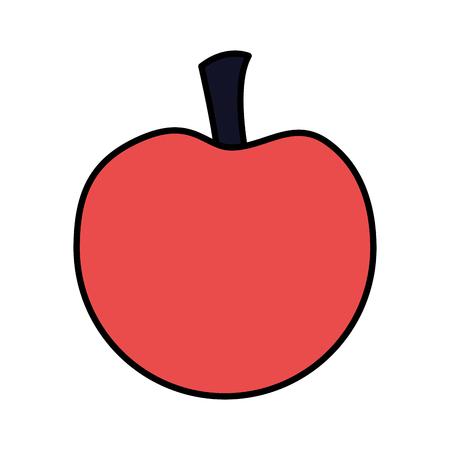 red apple fruit on white background vector illustration