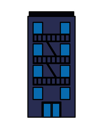 building facade architecture on white background vector illustration   vector illustration  イラスト・ベクター素材