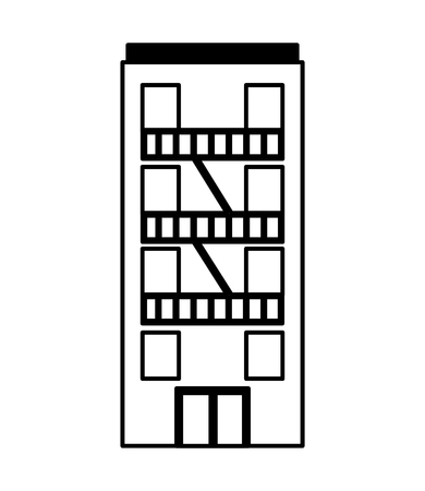 building facade architecture on white background vector illustration   vector illustration 向量圖像