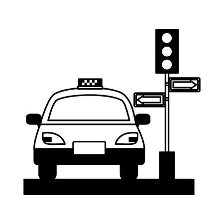 taxi service public traffic light arrows vector illustration Archivio Fotografico - 115570730