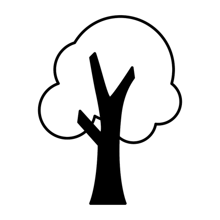 tree nature on white background vector illustration