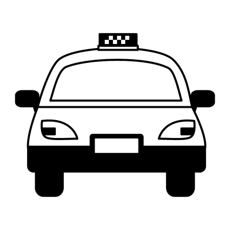 taxi vehicle service public white background vector illustration
