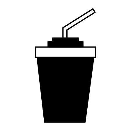 paper cup soda with straw vector illustration Imagens - 115607271