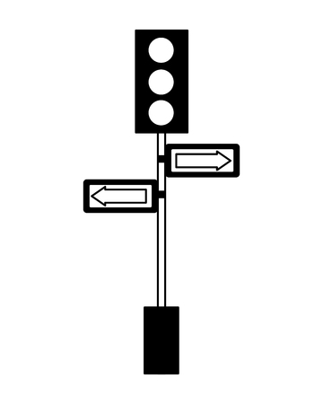 traffic lights pole arrows signal vector illustration   일러스트