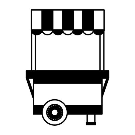 Puesto de comida en la ilustración de vector de fondo blanco Ilustración de vector