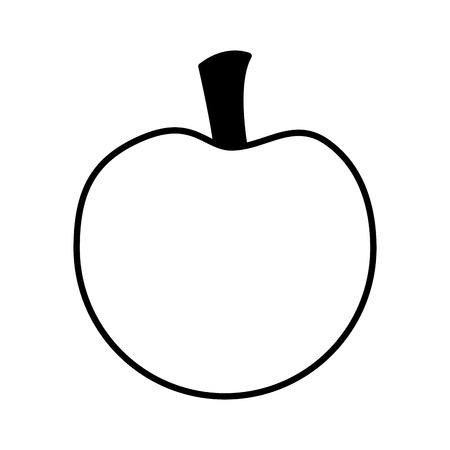 fresh apple fruit on white background vector illustration   向量圖像