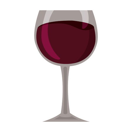 wine glass cup on white background vector illustration Фото со стока - 125978958