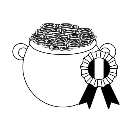 cauldron medal coins happy st patricks day vector illustration Foto de archivo - 115686561